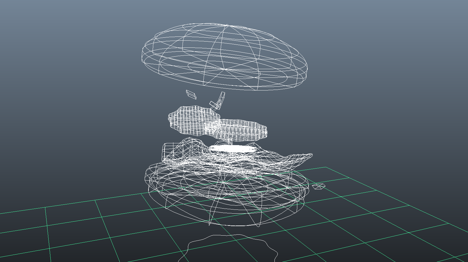 mixtus-exploding-hamburger-3d-wireframe